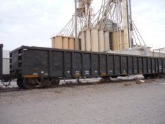 Boxcar in cleaning facility